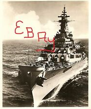 1960'S 11X14 US NAVAL  PHOTOGRAPH OF THE U.S.S. MISSOURI BB-63 IN ACTION AT SEA
