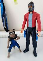 ROCKET RACOON & STAR-LORD MARVEL TITAN HERO 12 & 6 INCH ACTION FIGURES Hasbro
