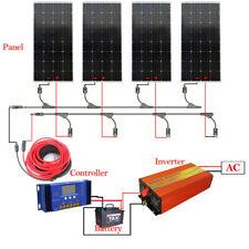 600W Solar Panel kit 4X150W Mono Solar Panel off Grid inverter Battery Power