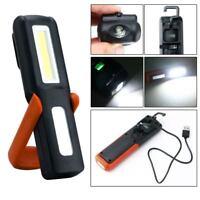 USB Charging 3W COB LED Inspection Work Light Lamp Magnetic Flashlight Torch