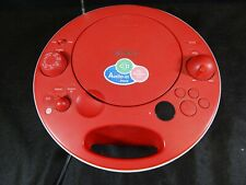 RED SONY PERSONAL AUDIO SYSTEM PORTABLE CD PLAYER AM/FM RADIO MODEL NO. ZS-E5