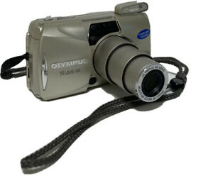 Olympus Stylus 120 35mm Point & Shoot Film Camera Zoom 38-120mm TESTED