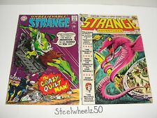 Strange Adventures #204 & 232 Comic Lot Dc 1967 Adam Strange Crazy Quilt Man Htf