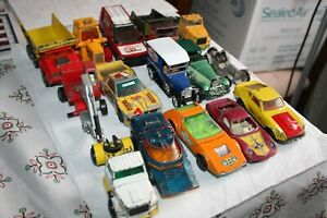 Bundle / Joblot of Large Size MATCHBOX Toy Cars - Super Kings Speed Kings etc