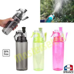 3 x Bouteille avec spray brumisateur vaporisateur gourde pour eau rechargeable