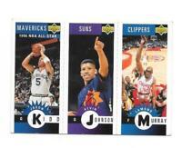 Carte - Upper Deck 1996 - N°M37 / M64 / M18 - Murray / Johnson / Kidd