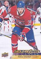 17-18 Upper Deck Nikita Scherbak UD Canvas Young Guns Rookie Canadiens 2017