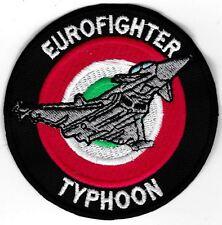 [Patch] EUROFIGHTER TYPHOON COCCARDA cm 8 toppa ricamata ricamo AERONAUTICA -474