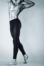 Black opaque meggings men underwear sporty style leggins thick 100 den T44