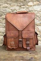 Leather Goat Bag Backpack Rucksack Vintage Messenger Real Laptop Brown Genuine