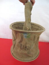 WWII US Army Cavalry Collapsable Folding Canvas Jeep Water Bucket - Dtd 1943 #1