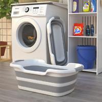 Baby Bathtub Folded, Large Portable Shower,Silicone Wash Tank,Non-slip,unisex.