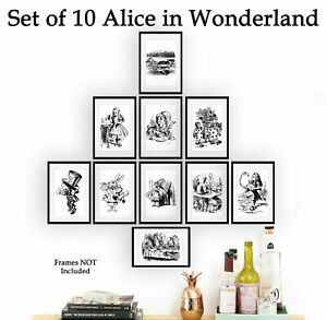 Set of 10 Alice In Wonderland 6x4 Photo Picture Prints ONLY Vintage Wall Art
