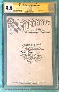 SUPERMAN: THE WEDDING ALBUM #1 CGC 9.4 SS - Collector's -signed 6x -Lois & Clark