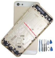Metal Replace Gold Battery Door Housing Back Cover Case For Iphone 5