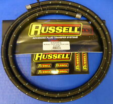 Russell 632063 Proclassic Black Braided Nylon Hose - 6 AN 6 ' Fuel Oil Gas Line
