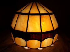 Stained glass slag leaded lamp shade