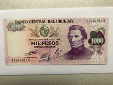 1974 Uruguay 1000 Pesos Note CU #16169