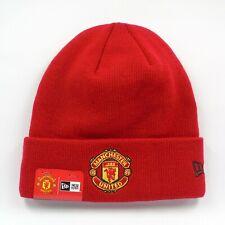 New Era Cap Men's Manchester United FC Basic Red Winter Knit Beanie Hat