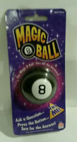 Magic 8 Ball Mattel games ask question push button NOS in box works 2009 dated