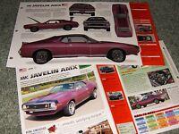 RARE-1971-74 AMC JAVELIN AMX SPEC INFO AD BROCHURE 71 72 73 74