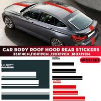 3pcs Universel Sticker Autocollant vinyle capot moteur carrosserie adhésif Auto