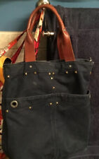Abercrombie and Fitch Canvas Leather Tote Bag/15X15 Vintage Unisex Bag/VGC