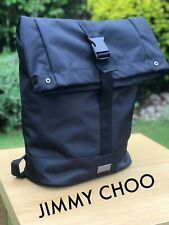 🆕Jimmy Choo BLACK Ruck Sack BACKPACK Gym Holdall Bag FREE DELIVERY Mens NEW!