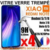 Verre Trempe Film Protection Vitre Xiaomi Redmi Note7/Note8 T/5/5A/6/Pro/6A/7/8