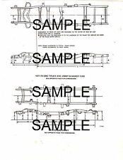 1970 1971 GMC TRUCK 1500 2500 3500 MODEL FRAME CHART DIMENSION DIAGRAM 2P 6871BK