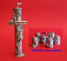 More details for peter pan diorama six pewter collectible thimbles peter pan gift thimble gifts