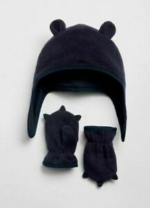 BABYGAP BOY FLEECE TRAPPER HAT SET NWT 0-6 MONTH N4 NNN