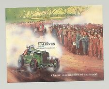 Maldives #996 Classic Automobiles 1v S/S Imperf Proof