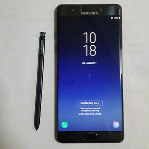 For Samsung Galaxy Note Fe SM-N935S 64GB Clear imei Unlocked Korean Model Black