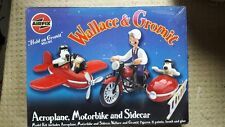 Rare Airfix Wallace And Gromit Airplane Motorbike And Sidecar BNISB cello sealed