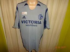 """FC Schalke 04 Adidas Ausweich Trikot 2005/06 """"VICTORIA versichert"""" Gr.XL"""