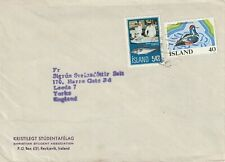 1978 Iceland cover sent from Reykjavik to Leeds England