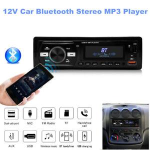 12V Bluetooth USB/FM/WMA/WAV Radio Audio Stereo MP3 Player Unit Remote Control