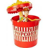 Toy Story 4 Pop A Whirl Playset with Woody NEW Disney Pixar Popcorn Bucket