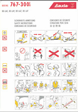 Safety Card / Lauda Air / Boeing 767-300ER / 2005 (OE-LAE, -LAY, -LAZ, -LAT )