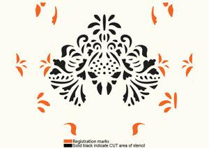 Damask Stencil Seamless Pattern Paint Wall Furniture Scrapbook Reusable Art FL73