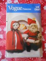 "Vogue Vtg 80s Linda Carr Santa Claus doll 4 ft greeter pattern 49/"" /& 26/"" tall"