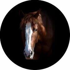 Horse #8 Horse Head Spare Tire Cover Fits rv, campers, trailers, backup cameras