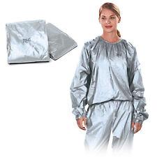 Everlast Unisex 2 Piece PVC Silver Sauna Suit - Sport Training  Fitness - Medium