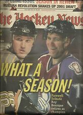 July 2001 The Hockey News Weekly----Lemieux---Bourque