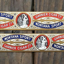 2 Vintage Original MONTANA SPORT CIGAR Labels Bands Livingston Unused NOS 1900s