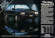 Mazda 323 1983 UK Market Launch Leaflet Sales Brochure 1100 1300 1500 GT