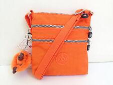 BNEW Authentic KIPLING Alvar XS AC7098 Crossbody Sling Bag Brite Orange FreeShip