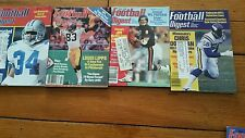 Lot#4 Football Magazines 1980 - Athlon's Annual & Football Digest Yearbook