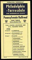 ⫸573 Pennsylvania Railroad Philadelphia - Torresdale Time Table 10-30-1960